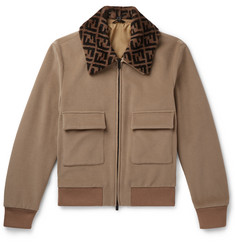 Fendi - Shearling-Trimmed Wool-Fleece Blouson Jacket