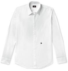 Fendi Slim-Fit Logo-Embroidered Cotton-Poplin Shirt