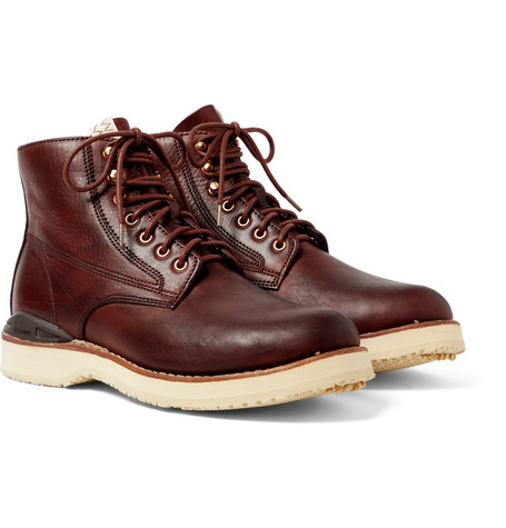 Visvim Boots VIRGIL BURNISHED-LEATHER BOOTS