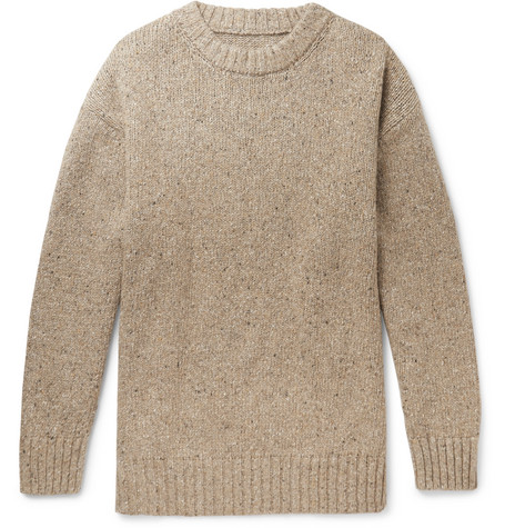 Oversized Donegal Wool Blend Sweater by Maison Margiela