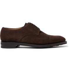 John Lobb Cap-Toe Suede Derby Shoes