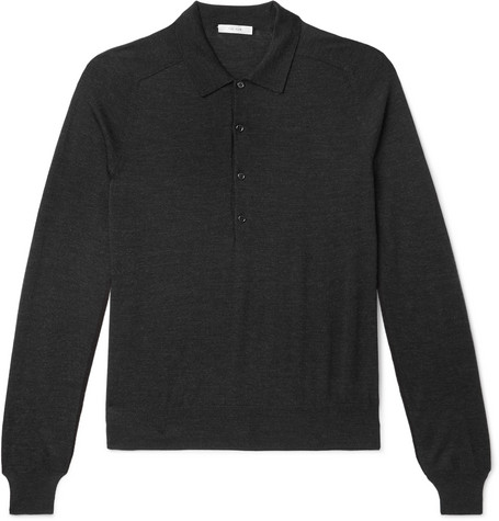 The Row Tops DYLAN MERINO WOOL POLO SHIRT