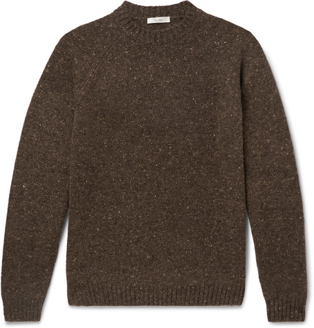 The Row Sweaters EZRA MÉLANGE CAMEL HAIR-BLEND SWEATER