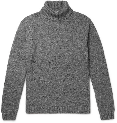 The Row Sweaters ASHER MÉLANGE CAMEL HAIR-BLEND ROLLNECK SWEATER