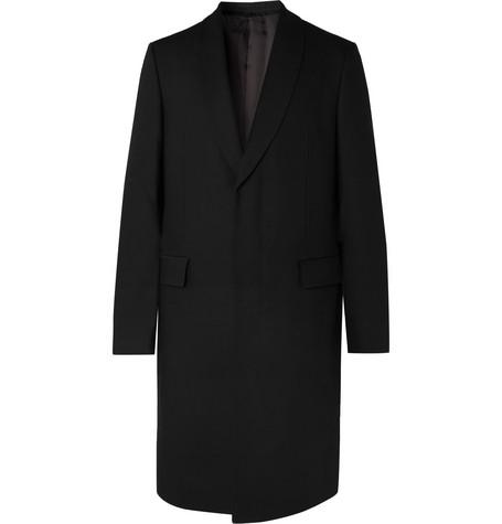 The Row Coats LEONHARD SLIM-FIT SHAWL-COLLAR VIRGIN WOOL OVERCOAT