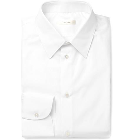 The Row T-shirts WHITE JASPER SLIM-FIT COTTON-POPLIN SHIRT
