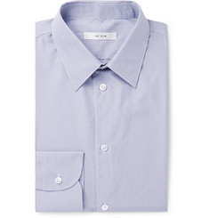 The Row - Grey Jasper Slim-Fit Striped Cotton-Poplin Shirt