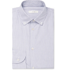 The Row - White Robert Button-Down Collar Pinstriped Cotton Shirt
