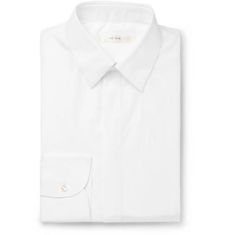 The Row T-shirts ETHAN WHITE COTTON SHIRT