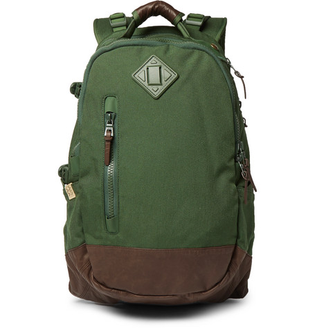 Visvim Backpacks CORDURA AND FAUX LEATHER BACKPACK