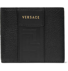 Versace Logo-Debossed Leather Billfold Wallet
