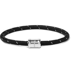 Miansai Silver-Tone, Nylon and Steel Rope Bracelet