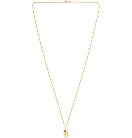 Miansai Lobster Claw Gold Vermeil Necklace