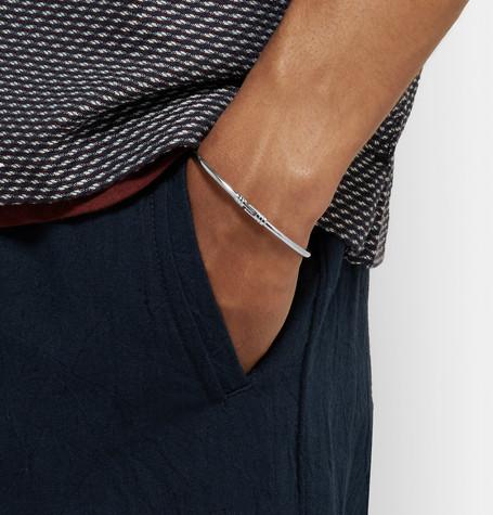 Chamber Polished Sterling Silver Bracelet