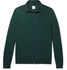Paul Smith Merino Wool Zip-Up Cardigan