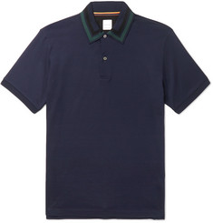 Paul Smith Contrast-Tipped Cotton-Piqué Polo Shirt