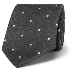 Paul Smith - 8cm Polka-Dot Silk and Wool-Blend Tie