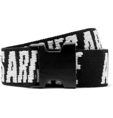 Aries Belts 4CM LOGO-JACQUARD WEBBING BELT