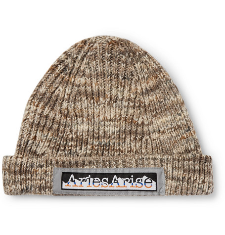 Aries Space-Dyed Knitted Beanie