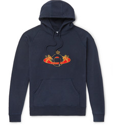 Pop Trading Company Logo-Embroidered Fleece-Back Cotton-Jersey Hoodie