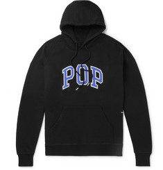 Pop Trading Company Logo-Appliquéd Fleece-Back Cotton-Jersey Hoodie