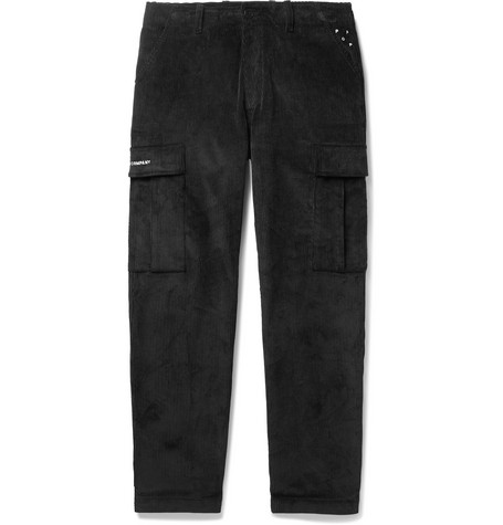 Pop Trading Company Slim-Fit Cotton-Corduroy Cargo Trousers