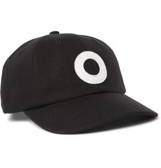 Pop Trading Company Logo-Flocked Cotton-Twill Baseball Cap