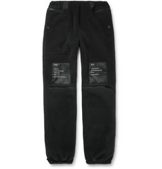 TAKAHIROMIYASHITA TheSoloist. Printed Satin-Trimmed Fleece Track Pants