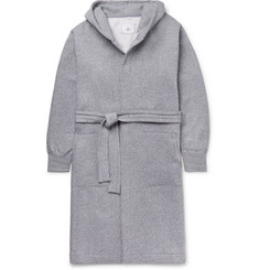 Reigning Champ Fleece-Back Cotton-Blend Jersey Hooded Robe