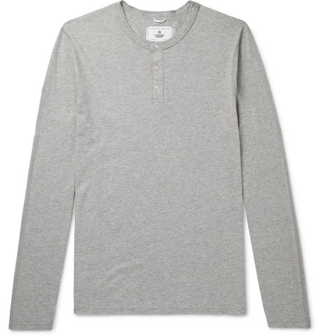 Reigning Champ Cotton-Jersey Henley T-Shirt