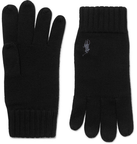 Polo Ralph Lauren Logo-Embroidered Merino Wool Gloves