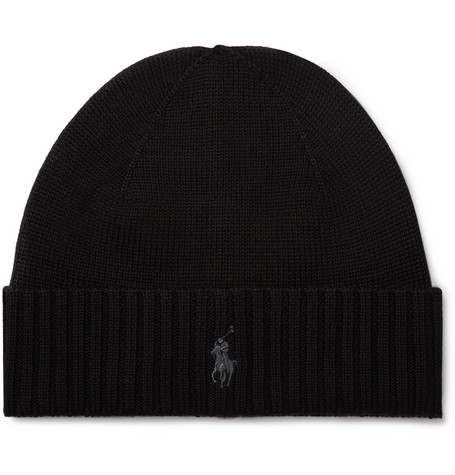 Polo Ralph Lauren Logo-Embroidered Merino Wool Beanie