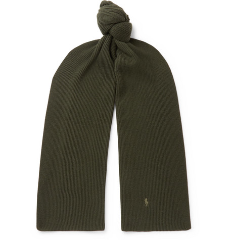 Polo Ralph Lauren Ribbed Merino Wool Scarf