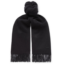 Hugo Boss Heroso Fringed Wool Scarf