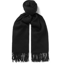 Hugo Boss - Heroso Fringed Wool Scarf