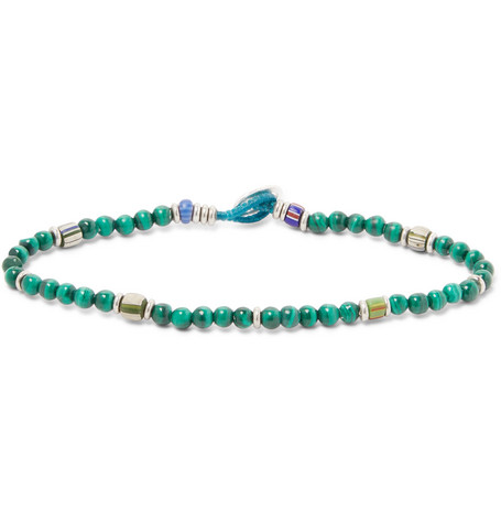 malachite-beaded-bracelet by mikia