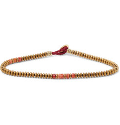 Mikia Hematite and Coral Bracelet