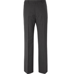 Prada - Wide-Leg Pinstriped Virgin Wool and Mohair-Blend Trousers