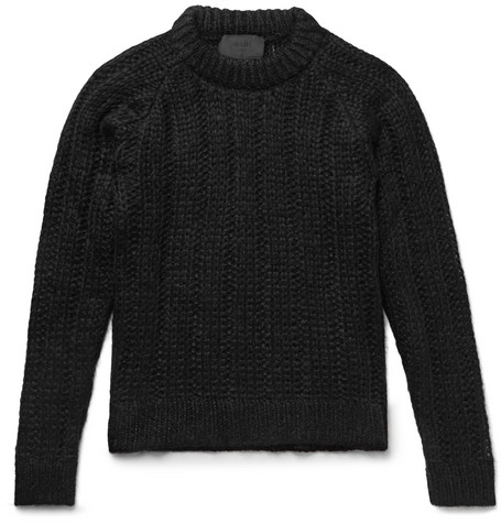 Ribbed Mohair Blend Sweater by Prada