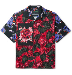 Prada Camp-Collar Printed Cotton Shirt