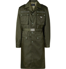 Prada - Belted Nylon-Gabardine Trench Coat