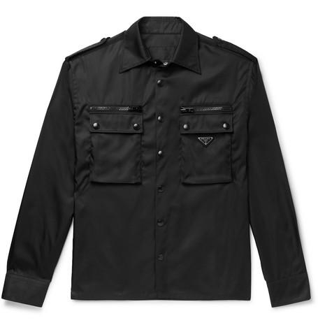 Nylon Gabardine Overshirt by Prada