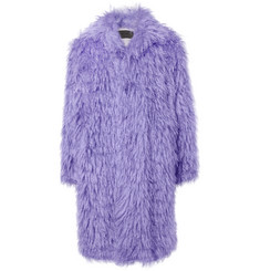 Prada Oversized Textured Mohair and Cotton-Blend Coat
