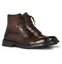 Officine Creative Exeter Burnished-Leather Boots