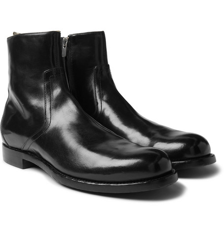 Polished Leather Chelsea Boots by Officine Creative