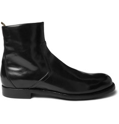 Officine Creative Polished-Leather Chelsea Boots