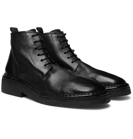 Full-grain Leather Boots - Black