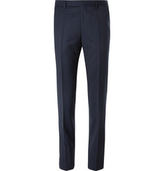 Hugo Boss Navy Puppytooth Virgin Wool Trousers
