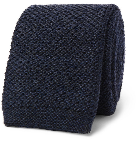 6cm Knitted Wool Tie by Hugo Boss