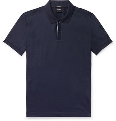Hugo Boss Slim-Fit Contrast-Tipped Cotton Polo Shirt